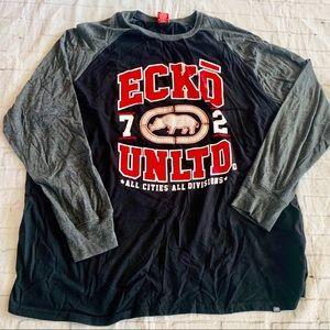 Ecko Black And Gray Men's Long Sleeve Shirt
